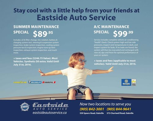 A/C and Summer Maintainence Specials Banner